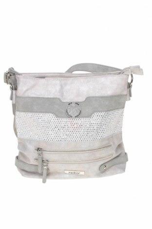 Γυναικεία τσάντα Rieker, Χρώμα Γκρί, Δερματίνη, κλωστοϋφαντουργικά προϊόντα, Τιμή 23,97€