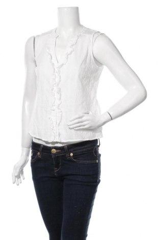 Дамска риза Naf Naf, Размер S, Цвят Бял, Памук, Цена 9,28лв.