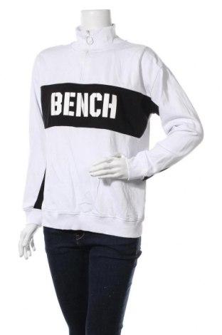 Дамска спортна блуза Bench, Размер M, Цвят Бял, 65% памук, 35% полиестер, Цена 29,68лв.