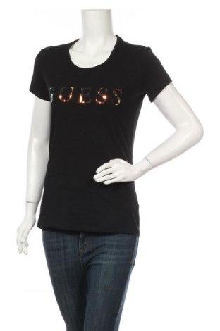 Γυναικείο t-shirt Guess, Μέγεθος L, Χρώμα Μαύρο, 95% βαμβάκι, 5% ελαστάνη, Τιμή 22,81€
