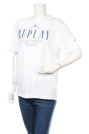 Дамска тениска Replay, Размер M, Цвят Бял, Памук, Цена 45,82лв.