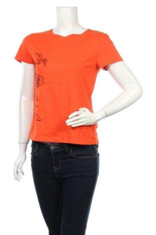 Γυναικείο t-shirt Tom Tailor, Μέγεθος S, Χρώμα Πορτοκαλί, Βαμβάκι, Τιμή 4,74€