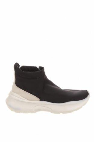 Γυναικεία μποτάκια Zara, Μέγεθος 38, Χρώμα Μαύρο, Κλωστοϋφαντουργικά προϊόντα, δερματίνη, Τιμή 22,73€