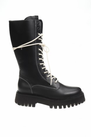 Дамски ботуши Bronx, Размер 39, Цвят Черен, Естествена кожа, Цена 237,32лв.