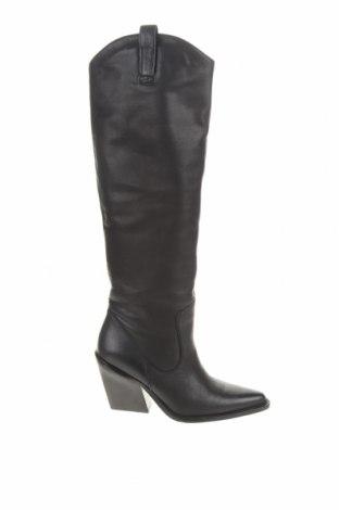 Дамски ботуши Bronx, Размер 39, Цвят Черен, Естествена кожа, Цена 208,45лв.