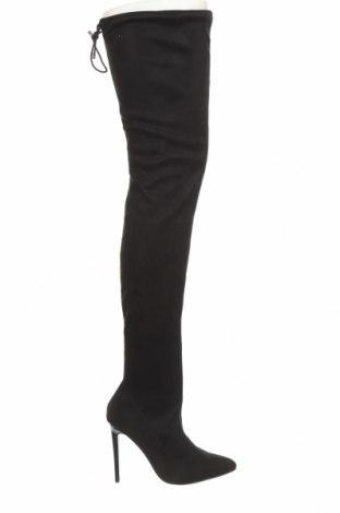 Дамски ботуши Even&Odd, Размер 36, Цвят Черен, Текстил, Цена 44,55лв.