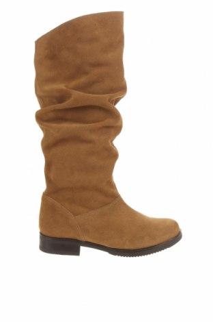 Γυναικείες μπότες Mis Pepas, Μέγεθος 37, Χρώμα Καφέ, Φυσικό σουέτ, Τιμή 41,03€