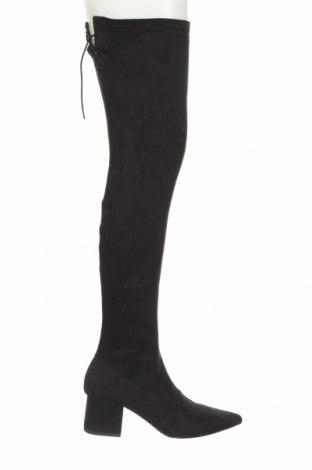 Дамски ботуши NLY, Размер 40, Цвят Черен, Текстил, Цена 66,75лв.