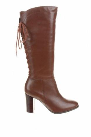 Дамски ботуши San Marina, Размер 40, Цвят Кафяв, Естествена кожа, Цена 110,77лв.