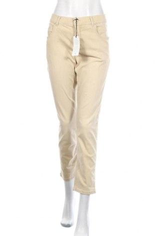 Дамски дънки Angels, Размер L, Цвят Бежов, 89% памук, 8% полиестер, 3% еластан, Цена 22,77лв.
