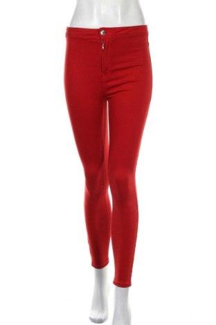 Дамски дънки Bershka, Размер S, Цвят Червен, 96% памук, 4% еластан, Цена 13,44лв.