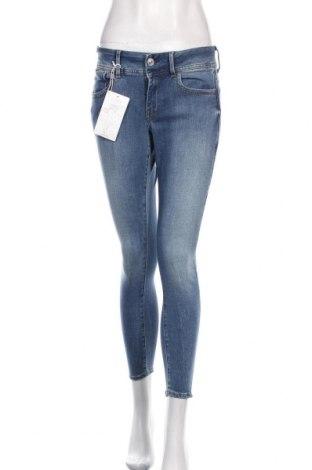 Дамски дънки G-Star Raw, Размер L, Цвят Син, 60% памук, 23% вискоза, 15% полиестер, 2% еластан, Цена 68,70лв.