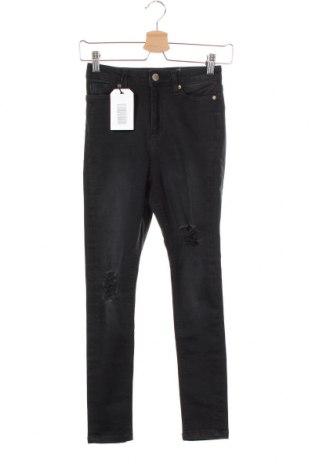 Дамски дънки Miss Selfridge, Размер XS, Цвят Черен, 90% памук, 8% полиестер, 2% еластан, Цена 19,32лв.