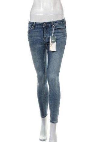 Дамски дънки ONLY, Размер S, Цвят Син, 92% памук, 6% полиестер, 2% еластан, Цена 59,25лв.
