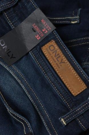 Дамски дънки ONLY, Размер S, Цвят Син, 98% памук, 2% еластан, Цена 14,48лв.