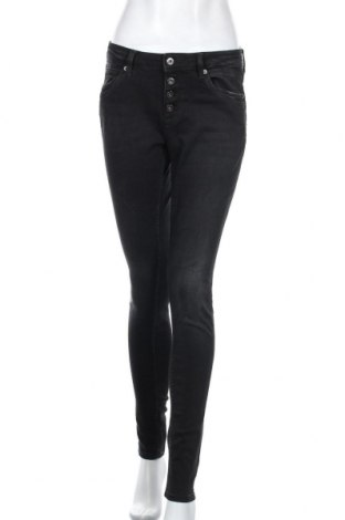 Дамски дънки Q/S by S.Oliver, Размер M, Цвят Черен, 84% памук, 14% полиестер, 2% еластан, Цена 17,64лв.