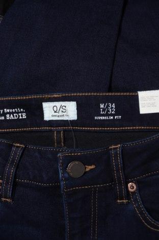 Дамски дънки Q/S by S.Oliver, Размер XS, Цвят Син, 45% вискоза, 28% полиестер, 24% памук, 3% еластан, Цена 32,67лв.