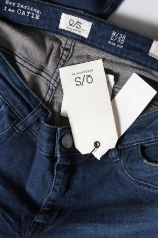 Дамски дънки Q/S by S.Oliver, Размер M, Цвят Син, 82% памук, 16% полиестер, 2% еластан, Цена 29,37лв.