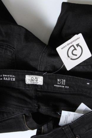 Дамски дънки Q/S by S.Oliver, Размер M, Цвят Черен, 99% памук, 1% еластан, Цена 27,72лв.