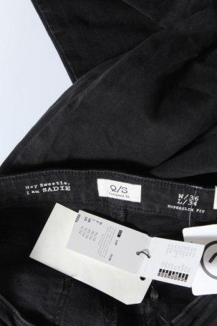 Дамски дънки Q/S by S.Oliver, Размер S, Цвят Черен, 99% памук, 1% еластан, Цена 26,07лв.