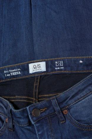 Дамски дънки Q/S by S.Oliver, Размер XS, Цвят Син, 45% вискоза, 28% полиестер, 24% памук, 3% еластан, Цена 17,22лв.