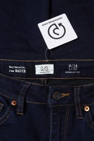 Дамски дънки Q/S by S.Oliver, Размер XS, Цвят Син, 45% вискоза, 28% полиестер, 24% памук, 3% еластан, Цена 30,36лв.
