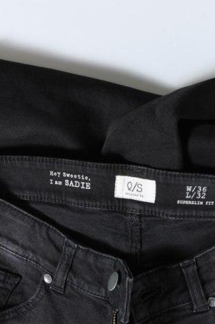 Дамски дънки Q/S by S.Oliver, Размер S, Цвят Черен, 99% памук, 1% еластан, Цена 27,72лв.