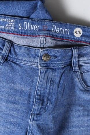 Дамски дънки S.Oliver, Размер S, Цвят Син, 99% памук, 1% еластан, Цена 27,60лв.