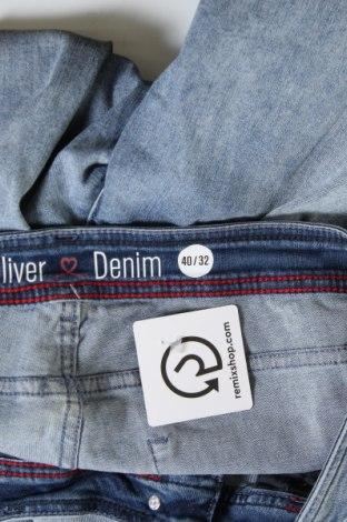 Дамски дънки S.Oliver, Размер L, Цвят Син, 90% памук, 8% полиестер, 2% еластан, Цена 48,00лв.