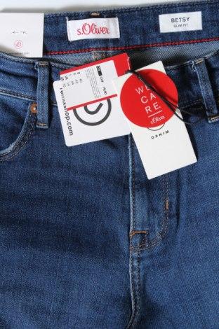 Дамски дънки S.Oliver, Размер L, Цвят Син, 99% памук, 1% еластан, Цена 23,70лв.
