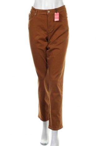 Дамски дънки S.Oliver, Размер XL, Цвят Кафяв, 50% памук, 40% вискоза, 8% полиестер, Цена 69,00лв.