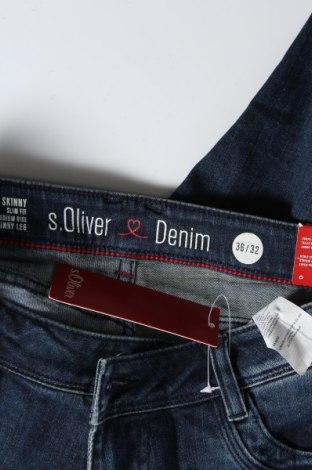Дамски дънки S.Oliver, Размер S, Цвят Син, 91% памук, 7% полиестер, 2% еластан, Цена 16,91лв.
