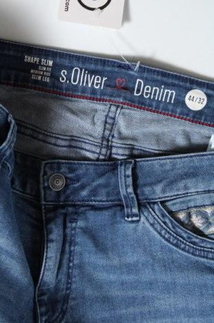 Дамски дънки S.Oliver, Размер XL, Цвят Син, Памук, еластан, Цена 26,07лв.