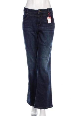 Дамски дънки S.Oliver, Размер XL, Цвят Син, 73% памук, 25% полиестер, 2% еластан, Цена 96,75лв.