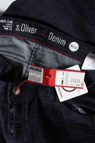 Дамски дънки S.Oliver, Размер L, Цвят Син, 98% памук, 2% еластан, Цена 74,25лв.