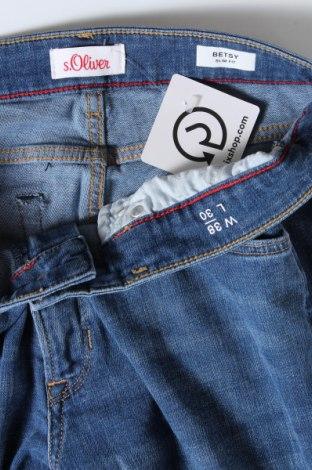 Дамски дънки S.Oliver, Размер M, Цвят Син, 50% памук, 50% полиестер, Цена 17,20лв.