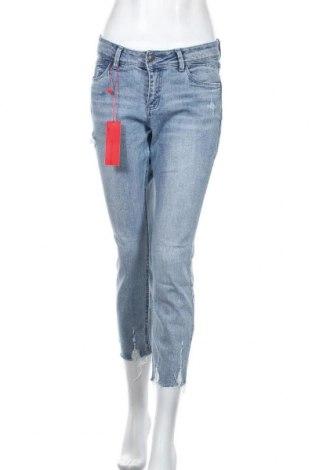 Дамски дънки S.Oliver, Размер S, Цвят Син, 99% памук, 1% еластан, Цена 66,75лв.