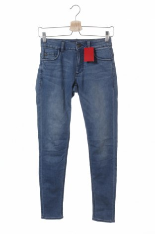 Дамски дънки S.Oliver, Размер XS, Цвят Син, 66% памук, 32% полиестер, 2% еластан, Цена 66,75лв.