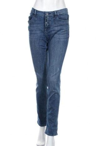 Дамски дънки S.Oliver, Размер XL, Цвят Син, 73% памук, 25% полиестер, 2% еластан, Цена 27,72лв.