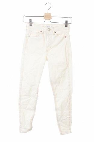 Дамски дънки Topshop, Размер XXS, Цвят Екрю, 92% памук, 8% еластан, Цена 26,24лв.