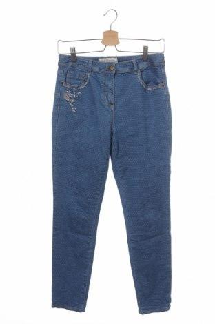 Дамски дънки Un Jour Ailleurs, Размер XS, Цвят Син, 98% памук, 2% еластан, Цена 8,66лв.