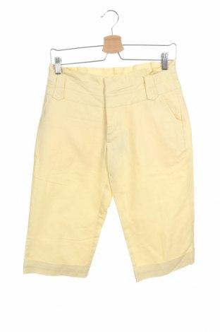 Дамски къс панталон Reserved, Размер S, Цвят Жълт, 50% памук, 50% лен, Цена 19,50лв.