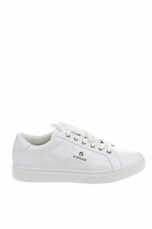 Дамски обувки Aigner, Размер 39, Цвят Бял, Естествена кожа, Цена 202,30лв.