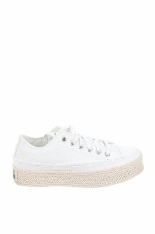 Дамски обувки Converse, Размер 36, Цвят Бял, Текстил, Цена 59,77лв.