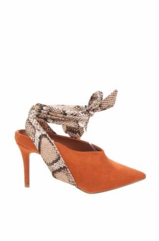 Дамски обувки Dorothy Perkins, Размер 37, Цвят Кафяв, Текстил, Цена 26,91лв.