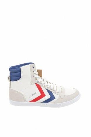Дамски обувки Hummel, Размер 38, Цвят Бял, Еко кожа, текстил, естествен велур, Цена 37,24лв.
