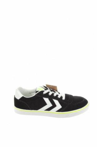 Дамски обувки Hummel, Размер 38, Цвят Черен, Естествен велур, еко кожа, Цена 35,97лв.