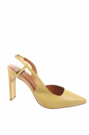 Dámské boty  Lab, Velikost 38, Barva Žlutá, Pravá kůže, Cena  742,00Kč