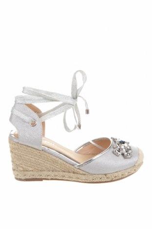 Дамски обувки Lulipa, Размер 39, Цвят Сребрист, Текстил, Цена 36,57лв.