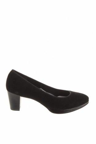 Дамски обувки Marco Tozzi, Размер 40, Цвят Черен, Естествен велур, Цена 42,84лв.